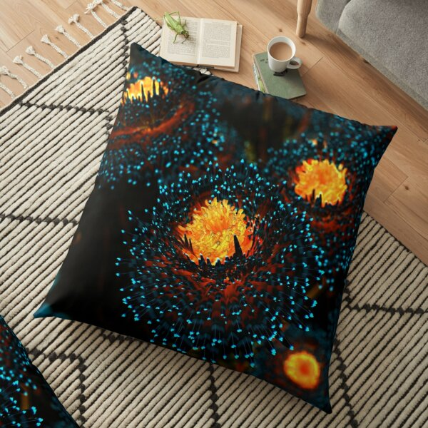 Electric Dahlia Floor Pillow