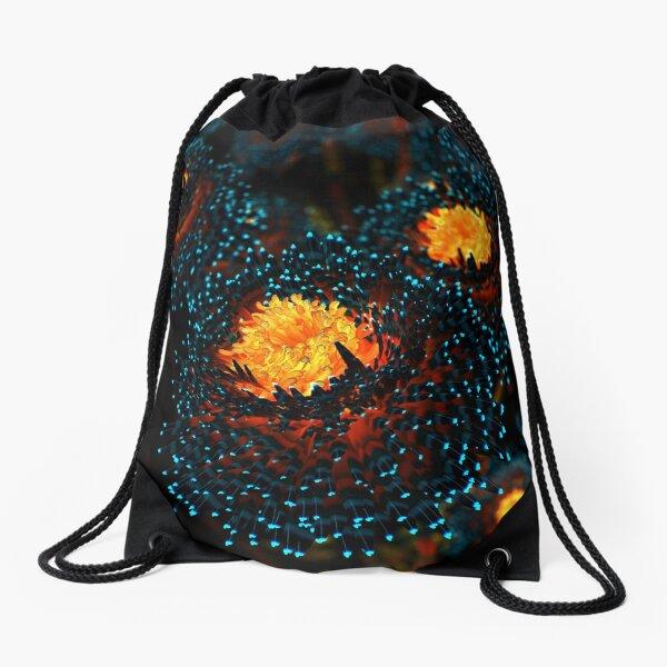 Electric Dahlia Drawstring Bag