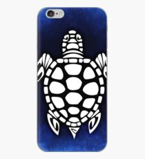Sea Blue Turtle Abstract iPhone Case