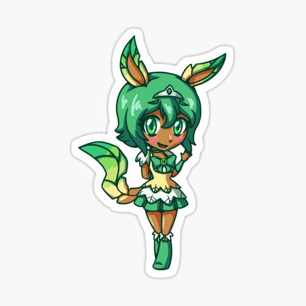 Leafeon Magisches Mädchen Chibi Sticker