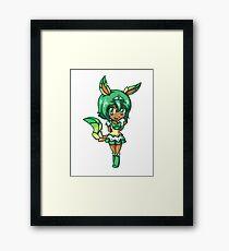 Leafeon Magical Girl Chibi Framed Print