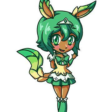 Leafeon Magical Girl Chibi by LankySandwich