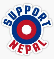 Support Nepal EARTHQUAKE RELIEF FUND DESIGN Sticker