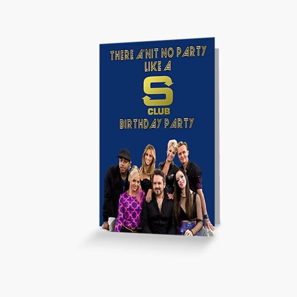 S Club 7 Birthday Card/Party Invitation Greeting Card