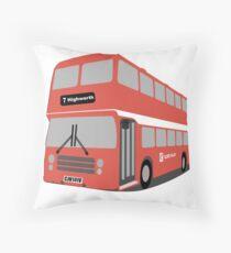David's Bus Throw Pillow