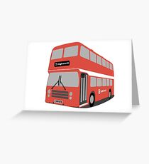 David's Bus Greeting Card