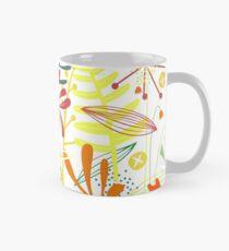 Tropische Blätter und Blumen Tasse (Standard)