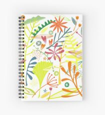 Tropical Leaves and Flowers Spiral Notebook