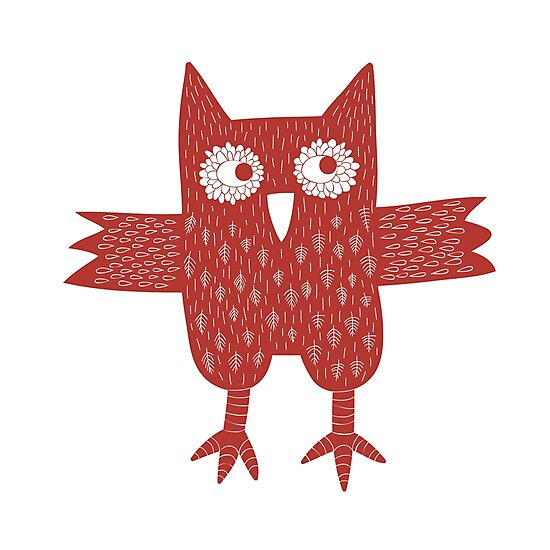 Red Owl Illustration by Nic Squirrell