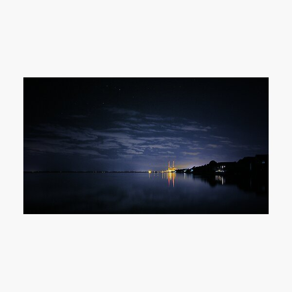 Industrial Nighttime Photographic Print