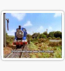 Thomas the Train Meme Sticker