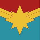 Goldener Stern mit dem blauen und roten Hintergrund der Knickente von James G