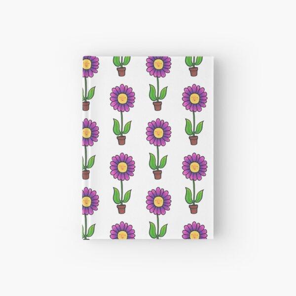 Happy little Flower in a Pot. Hardcover Journal