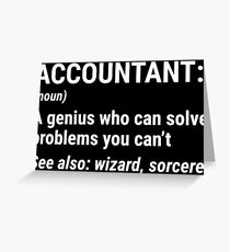 Funny Accountant Definition Solve Problems T-shirt Greeting Card