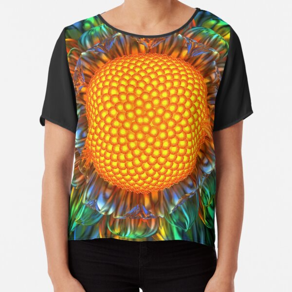 Sunburst Daisy Chiffon Top