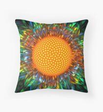 Sunburst Daisy Throw Pillow