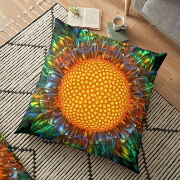 Sunburst Daisy Floor Pillow