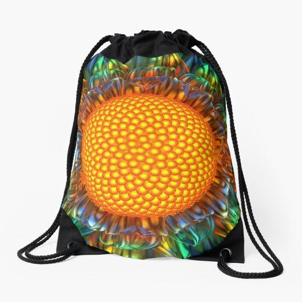 Sunburst Daisy Drawstring Bag