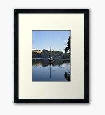 Cornish Shrimper reflection Framed Print