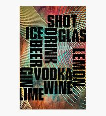 Drink text Photographic Print