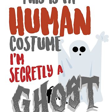 Kids Ghost Shirt Halloween Boo Funny Gift T-Shirt by thehadgaddad