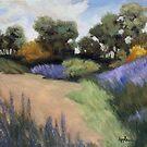 Summer Color - original rural landscape  by LindaAppleArt