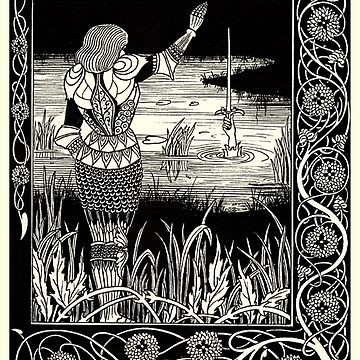 Excalibur in the Lake (1893). Aubrey Beardsley by TOMSREDBUBBLE