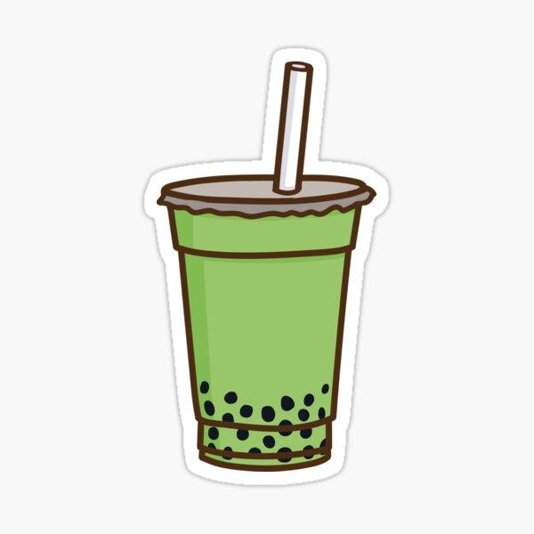 Matcha Bubble Tea Sticker
