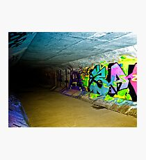 Graffiti Drain Photographic Print