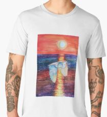 Flight at Sunset Men's Premium T-Shirt