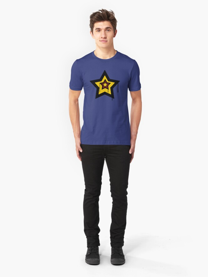Alternate view of Drip Star - (Colour). Slim Fit T-Shirt