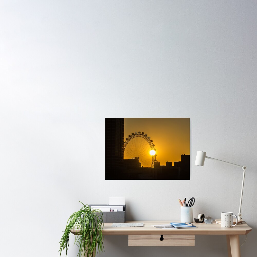 Sunset and the London Eye Poster