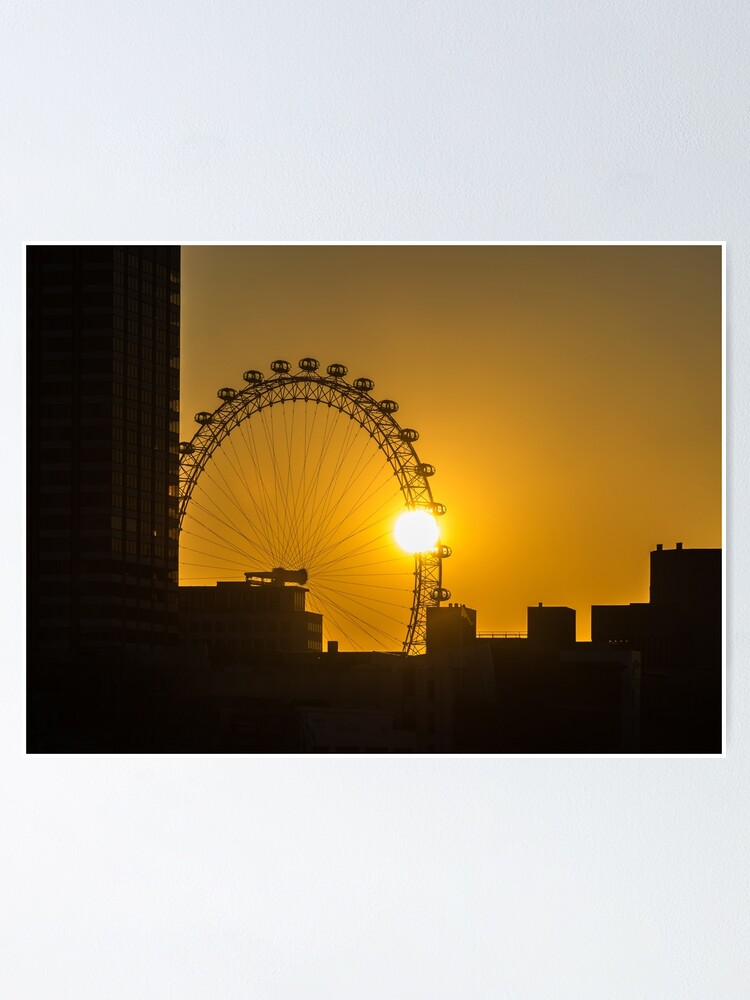 Alternate view of Sunset and the London Eye Poster