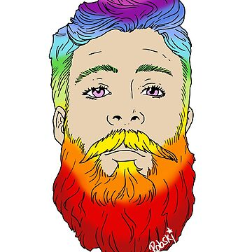 Rainbow beard pride by RobskiArt
