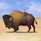 Bison Rider by SqueakyPics