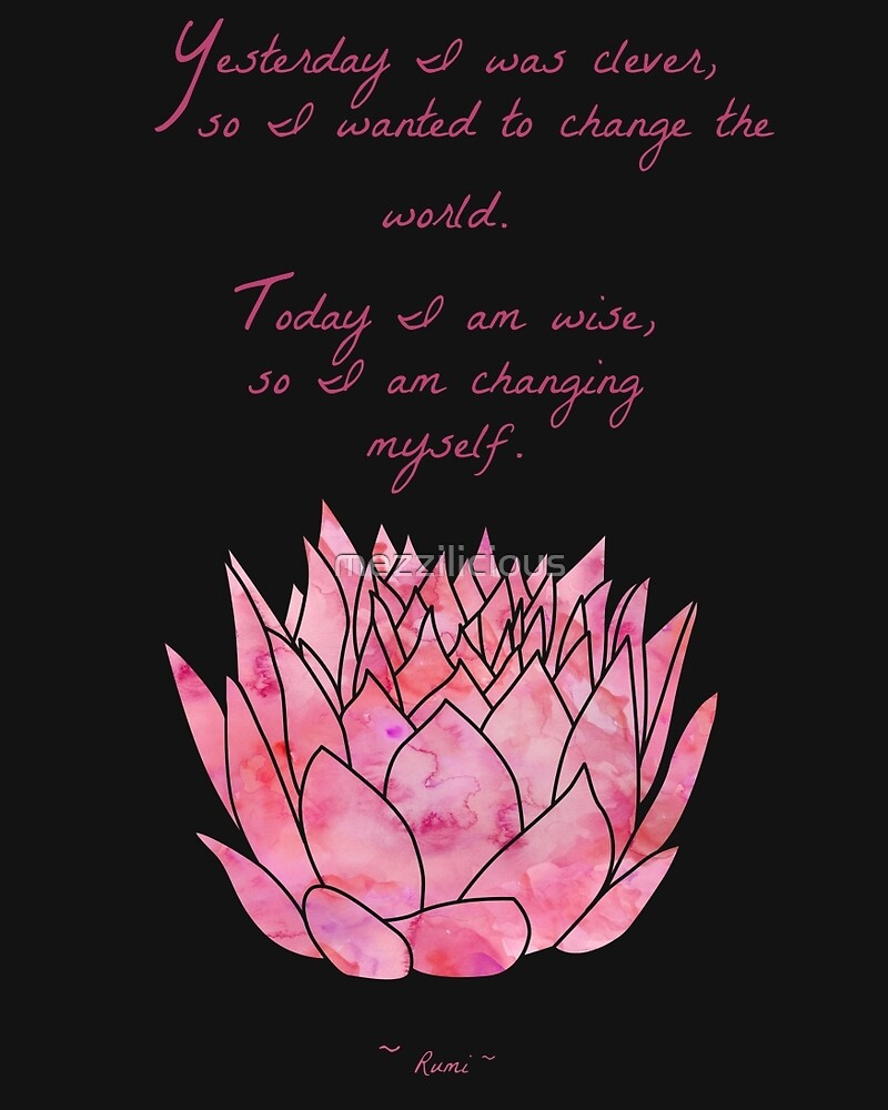 Lotus Flower Rumi Quote Inspirational By Mezzilicious Redbubble
