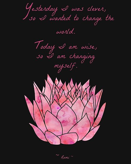 Lotus Flower Rumi Quote Inspirational Posters By Mezzilicious