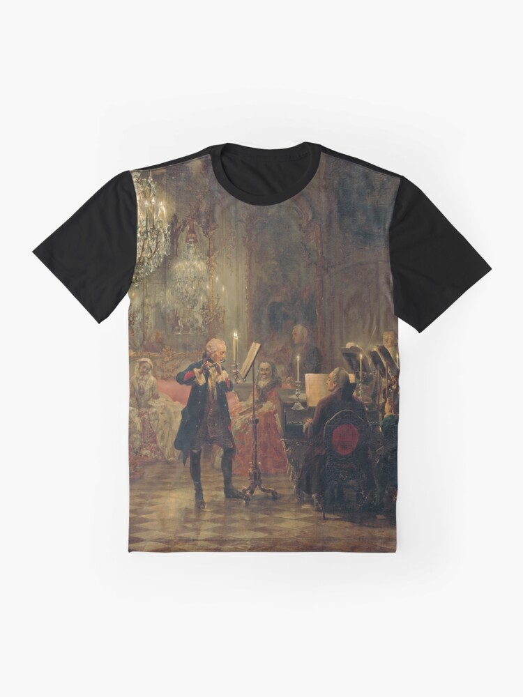 Alternate view of Frederick the Great Flute Concert (Flötenkonzert) Graphic T-Shirt