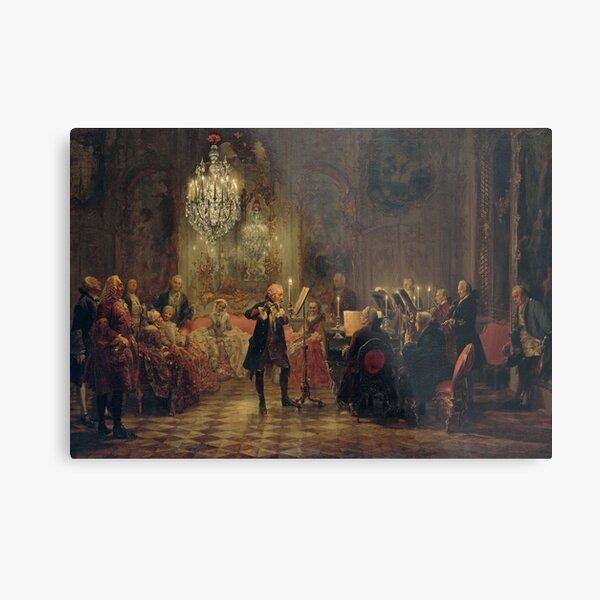 Frederick the Great Flute Concert (Flötenkonzert) Metal Print