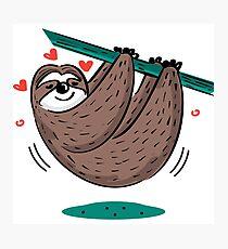 Cute Sloth Love Photographic Print