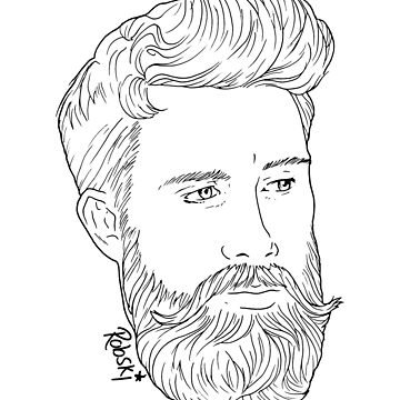 handsome bearded Man  by RobskiArt