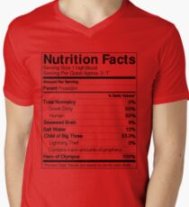 Half-Blood Nutrition Guide (Percy) Men's V-Neck T-Shirt