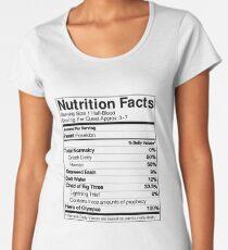 Camiseta premium de cuello ancho Guía de nutrición a mitad de la sangre (Percy)