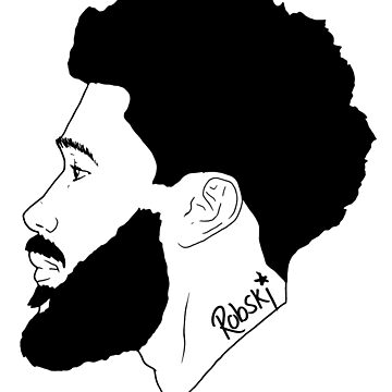 handsome bearded Man in profile by RobskiArt