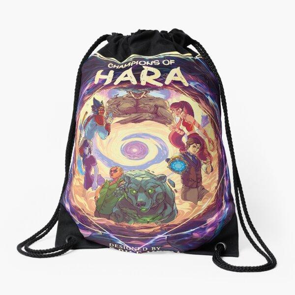 Champions of Hara Cover Art Drawstring Bag