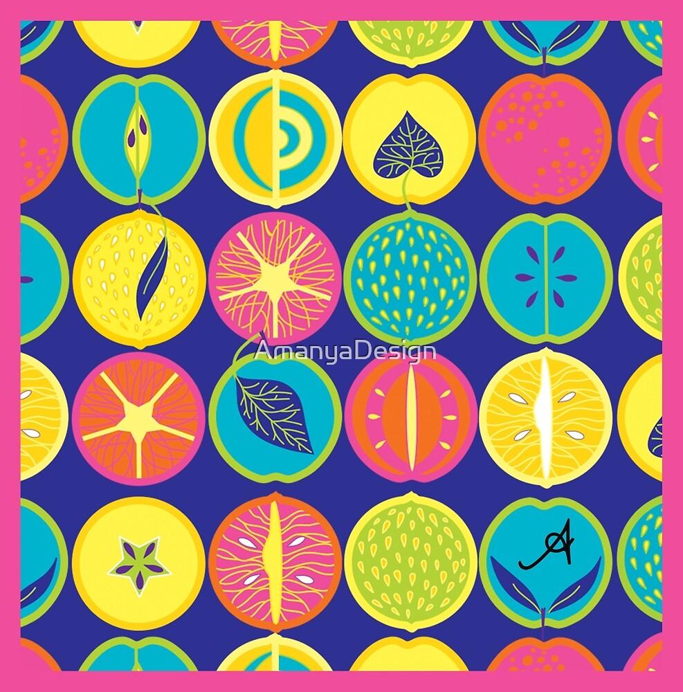 Eat Me Range Tropicana Blue Amanya Design by AmanyaDesign