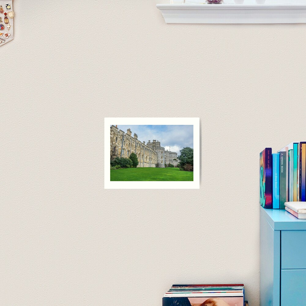 Windsor Castle from outside the gates Art Print
