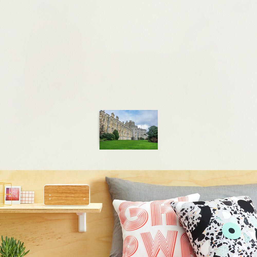 Windsor Castle from outside the gates Photographic Print