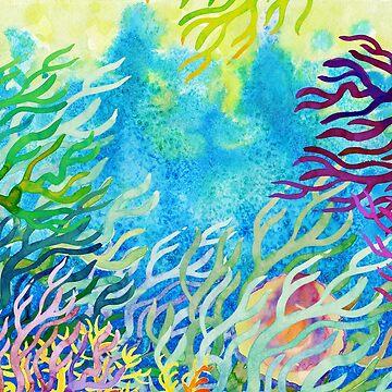 Underwater ocean seaweed by AgniArt