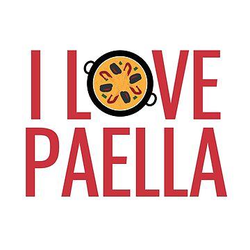I love Paella by Gifafun